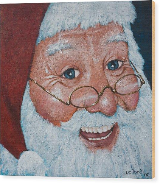 Merry Santa Wood Print