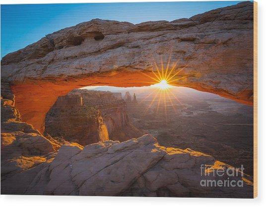 Mesa Arch Dawn Wood Print