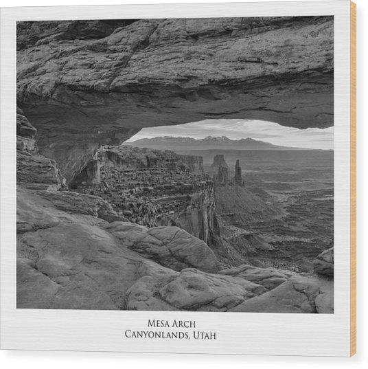 Mesa Arch Wood Print