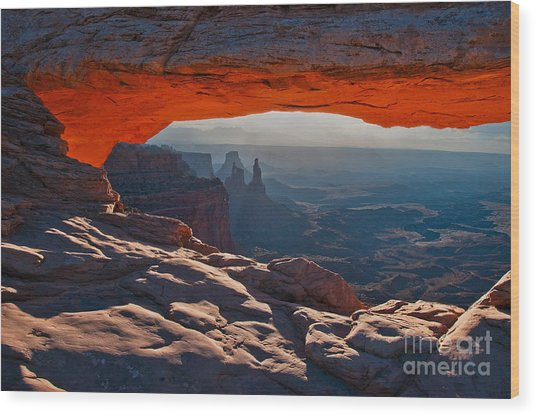 Wood Print featuring the photograph Mesa Arch  by Mae Wertz