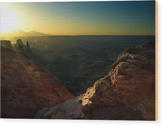 Mesa Arch Without The Arch Wood Print