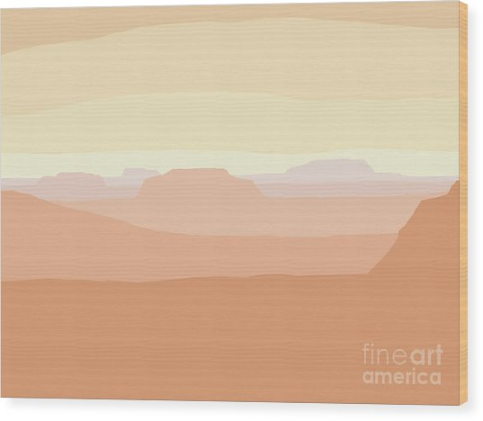 Mesa Valley Wood Print
