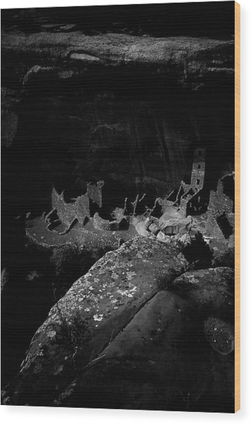 Wood Print featuring the photograph Mesa Verde Edged Into The Light by David Bailey