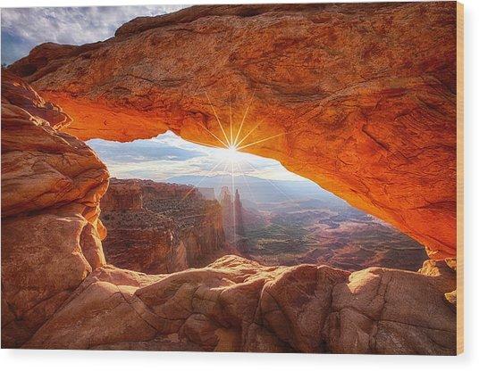 Mesa's Sunrise Wood Print
