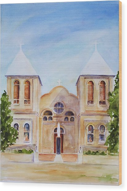 Mesilla Church Wood Print