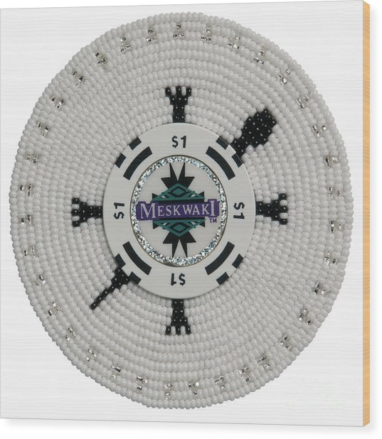 Meskwaki White Wood Print