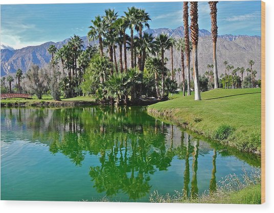Mesquite Country Club Lake Wood Print