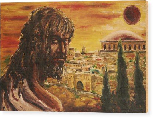 Messiah In Jerusalem Wood Print by George Dadiani