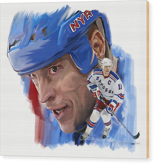 Messier II Mark Messier Wood Print