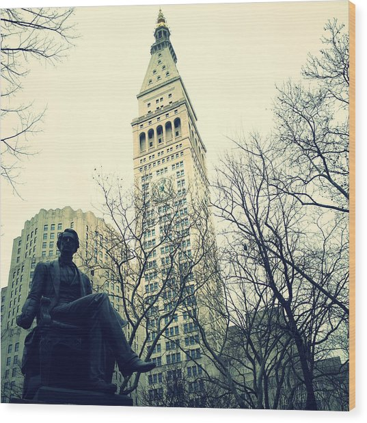 Met Life And Madison Square Park Wood Print