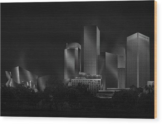 Metal Downtown L.a. Wood Print