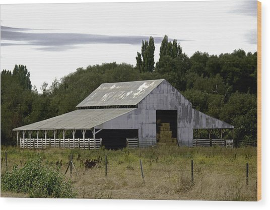 Metal Hay Barn Wood Print