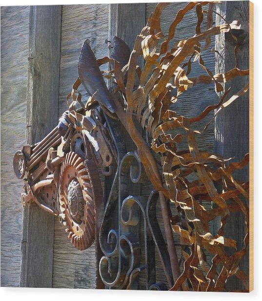 Metal Wildfire Wood Print