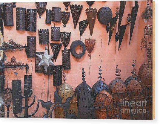 Metal Work Marrakesh Wood Print by Sophie Vigneault