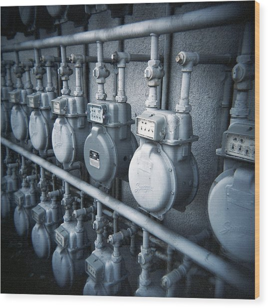 Electric Meter - Fine Art Photo Print Wood Print
