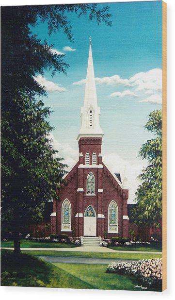 Methodist Church Wood Print