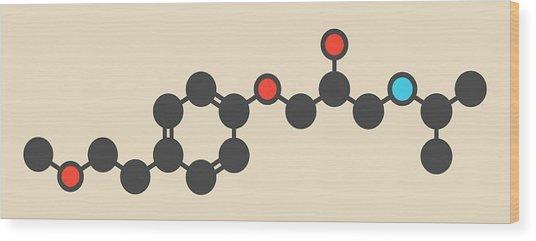 Metoprolol High Pressure Drug Molecule Wood Print by Molekuul
