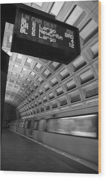 Metro Blur Wood Print by Bryan Knowles