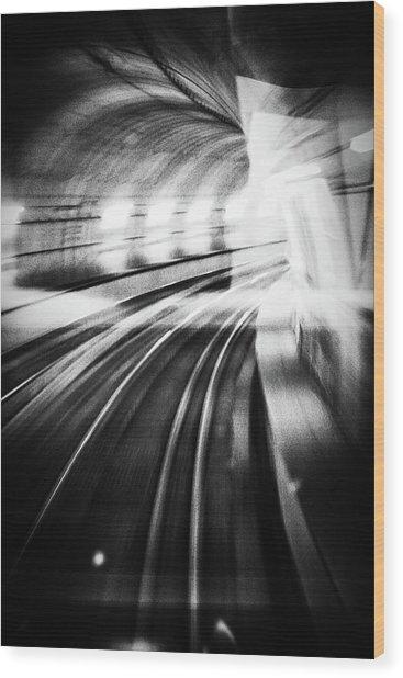 Metro Lights Wood Print by Mauro Bricchetti