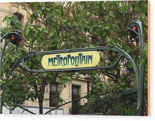 Metropolitain Wood Print by Carrie Warlaumont