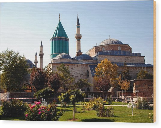 Mevlana Museum - Konya 2013 Wood Print by Jacqueline M Lewis