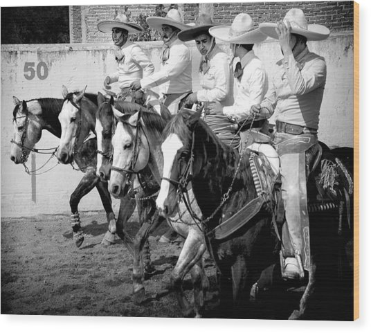 Mexican Cowboys Wood Print