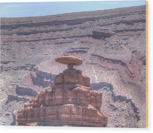 Mexican Hat Rock Wood Print by Sanda Kateley