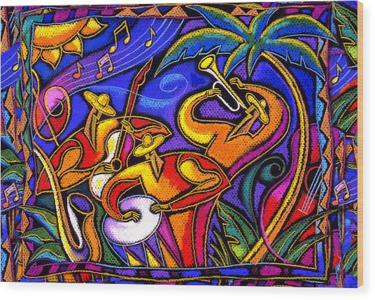 Latin Music Wood Print