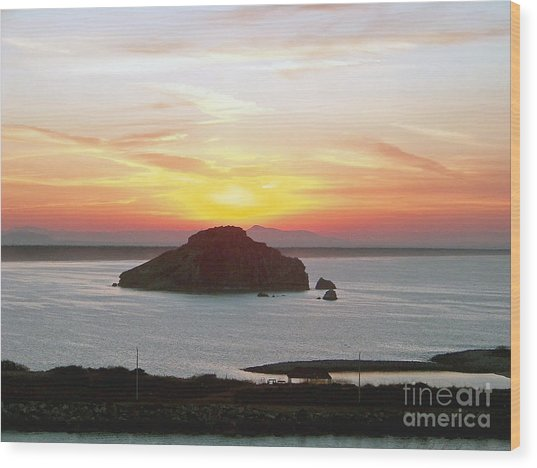 Mexican Riviera Sunset Wood Print