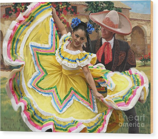 Mexicanhatdance Wood Print