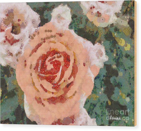 Alameda Meyers House Garden Klimt Rose Wood Print