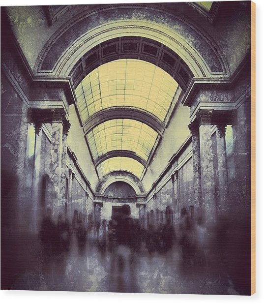 #mgmarts #paris #france #europe #louvre Wood Print by Marianna Mills