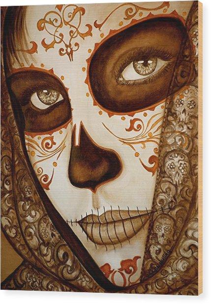 Mi Amor Detras Del Velo Wood Print