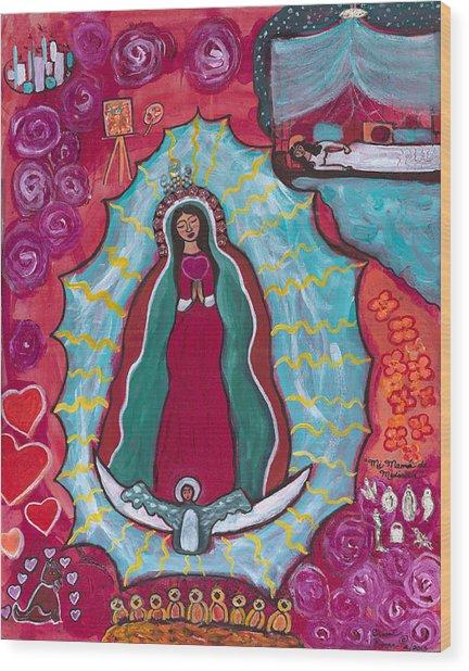Mi Mama De Medicina Wood Print by Susan Risse