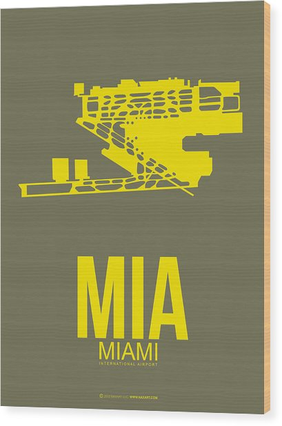 Mia Miami Airport Poster 1 Wood Print