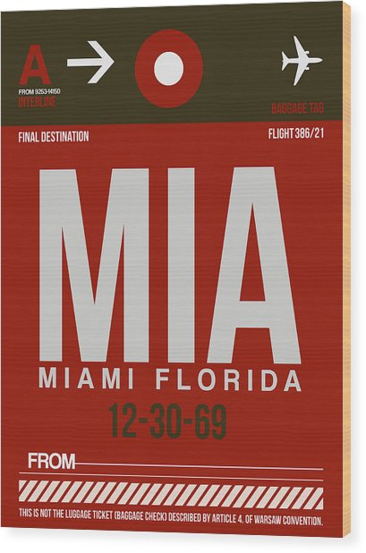 Mia Miami Airport Poster 4 Wood Print