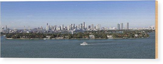 Miami Daytime Panorama Wood Print