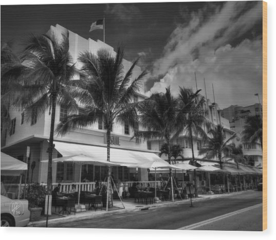 Wood Print featuring the photograph Miami - Deco District 011 by Lance Vaughn