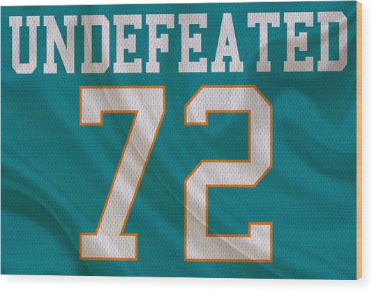 Miami Dolphins Undefeated Season Wood Print