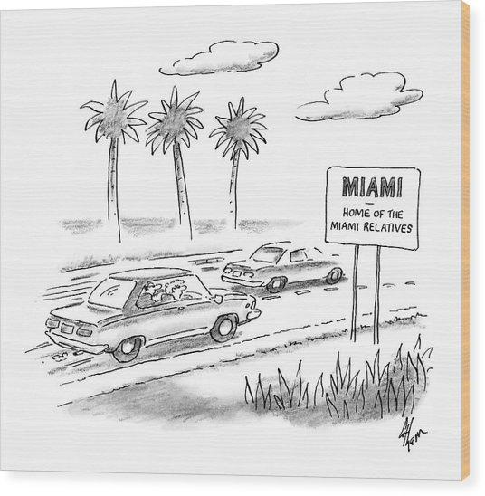 Miami:  Home Of The Miami Relatives Wood Print
