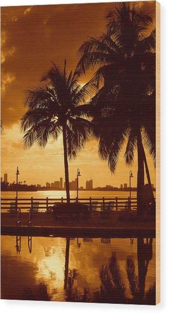 Miami South Beach Romance II Wood Print