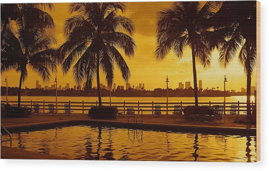Miami South Beach Romance Wood Print