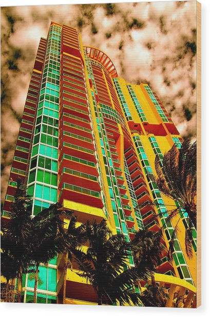 Miami South Pointe II Highrise Wood Print