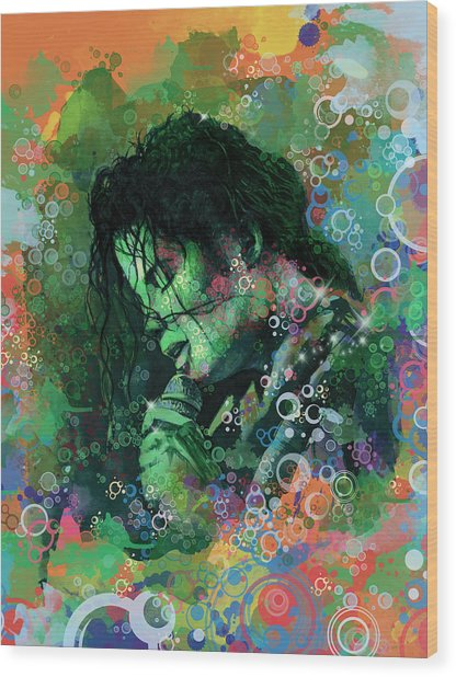 Michael Jackson 15 Wood Print
