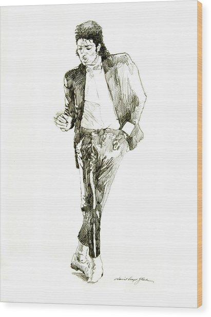 Michael Jackson Billy Jean Wood Print