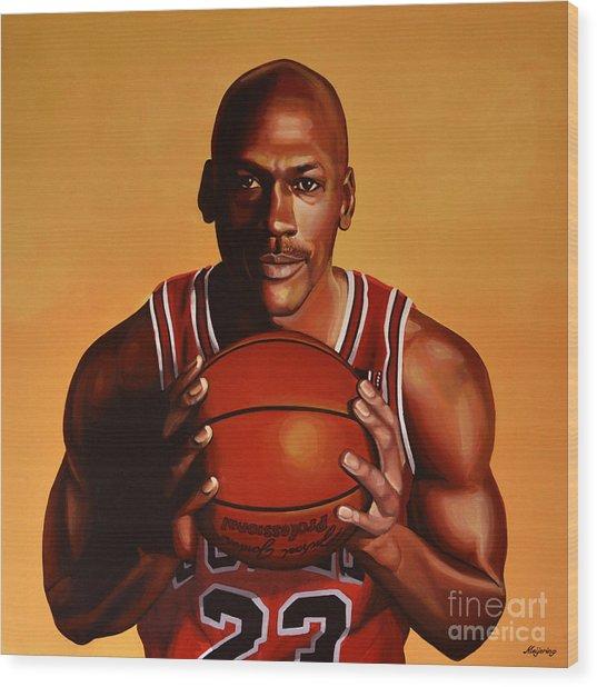 Michael Jordan 2 Wood Print