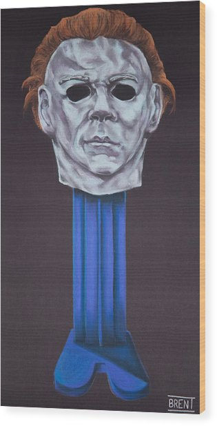 Michael Myers  Wood Print