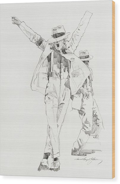 Michael Smooth Criminal Wood Print