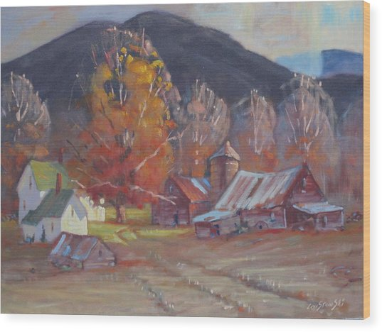 Michalskis In Autumn Colors Wood Print by Len Stomski