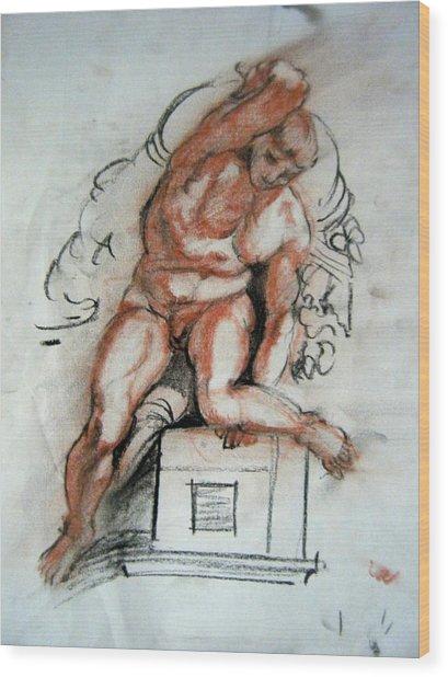 Michelangelo Study Wood Print
